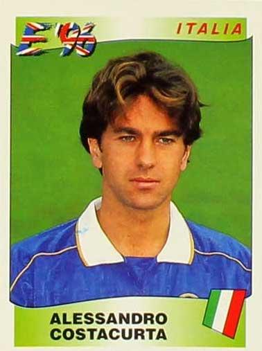 El gran defensa italiano Alessandro Costacurta, hombre de club, que jugó en el Milan y en la selección italiana un montón de años.